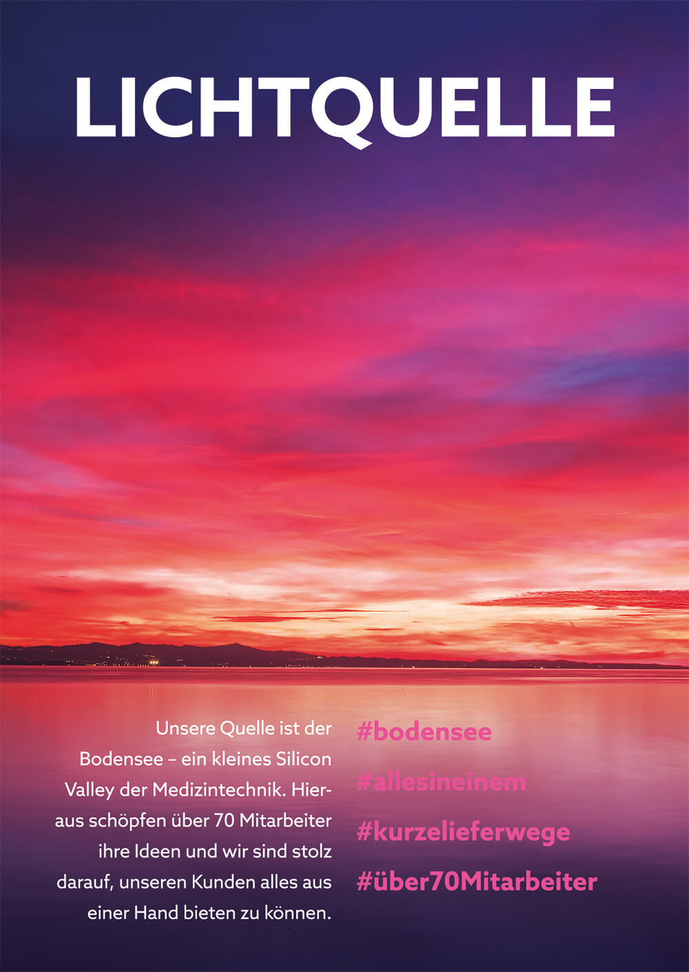 Sunset over the Lake of Constance