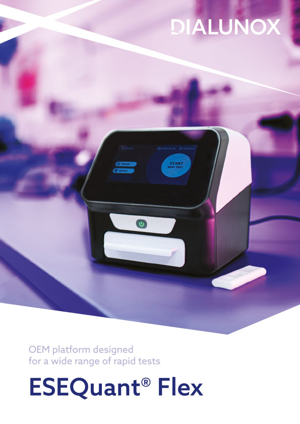 ESEQuant Flex reader for detection if rapid tests